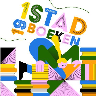 Logo 1 stad 19 boeken